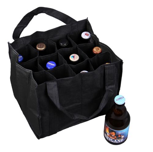 Image du produit Sac Alberto toile intissé noir 12 bières