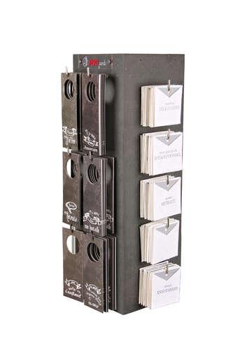 Image du produit Présentoir LoungeXL rotatif pour 220 cartes Cartella/Quartz 15x15x48cm