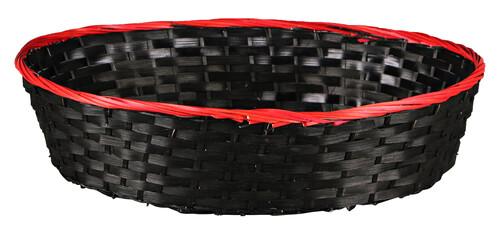 Image du produit Corbeille Clara bambou/jonc rouge/noir 38x28x9cm
