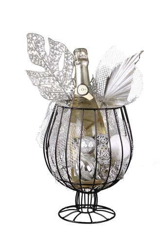 Image du produit Verre à pied Esteban métal noir 1 ou 2 bouteilles