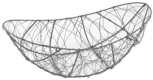 Image du produit Corbeille Marcel métal anthracite vieilli ovale 38x20x8/13cm