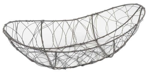 Image du produit Corbeille Marcel métal anthracite vieilli ovale 45x25x9/14cm