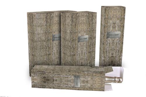 Image du produit Etui Lorriane carton imitation bois grisé magnum