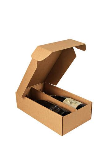 Image du produit Coffret Atlanta carton kraft lisse 2 bouteilles