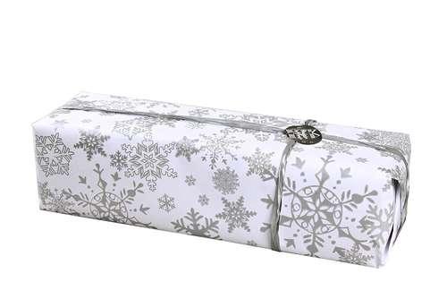 Image du produit Papier cadeau Snow kraft couché blanc/argent 73gr 0.50x200m