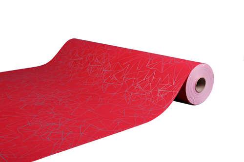 Image du produit Papier cadeau Diamy kraft couché rouge/argent 73gr 0.50x200m