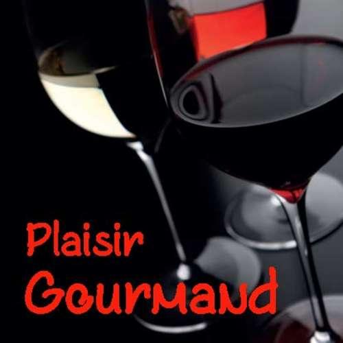 Image du produit Etiquette adhésive carrée quadri/noir - Plaisir Gourmand (boîte de 500)