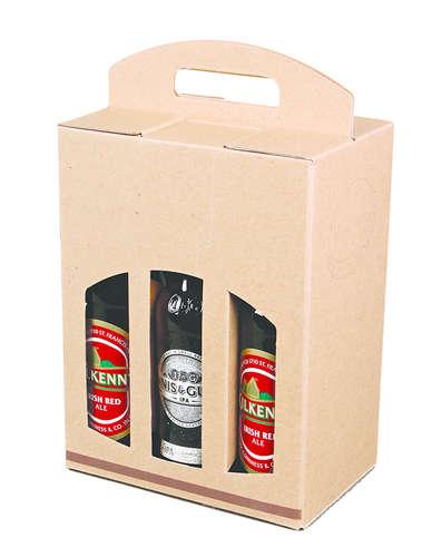Image du produit Valisette Pils carton kraft brun lisse/choco 6 bières 33cl (type long neck)