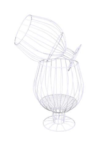 Image du produit Verre à pied Alban métal blanc 1 ou 2 bouteilles