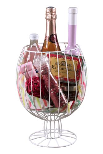 Image du produit Verre à pied Alban métal blanc 2 ou 3 bouteilles