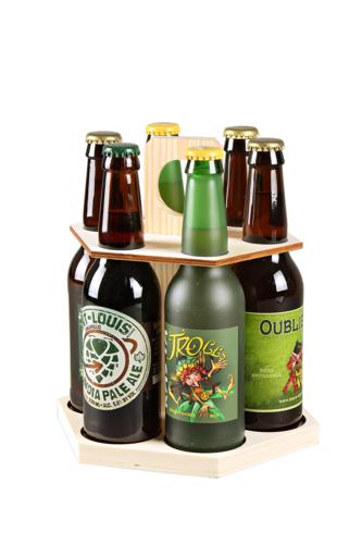Image du produit Carrousel à bière Kenzo bois naturel 6 bières 33cl (type long neck)
