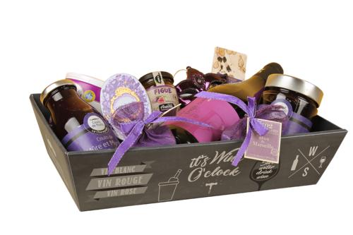 Image du produit Corbeille Manhattan carton ardoise 34x21x8cm