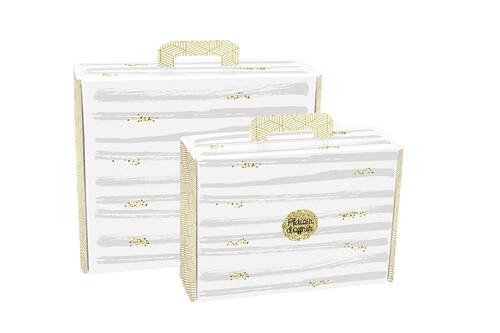 Image du produit Valisette gourmande Helsinki carton blanc/or/gris 42x35.5x12cm