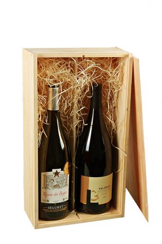 Image du produit Caisse Tradition bois de pin naturel double magnum
