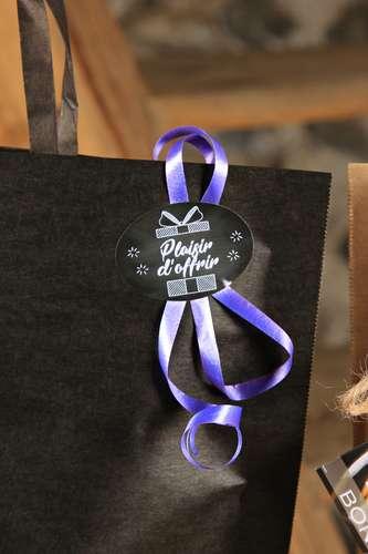 Image du produit Etiquette adhésive Manhattan ovale - Plaisir d Offrir (boîte de 500)