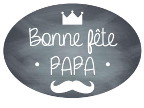 Image du produit Etiquette adhésive Manhattan ovale - Bonne fête Papa (boîte de 500)