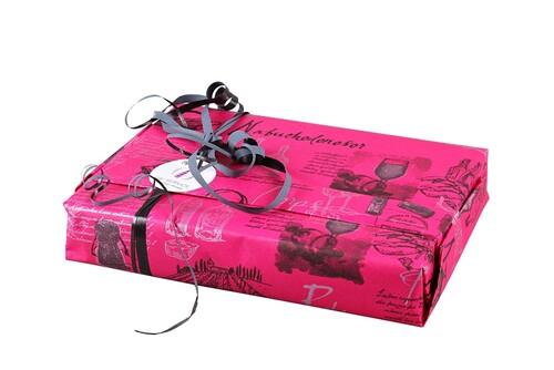 Image du produit Papier cadeau Cépage kraft couché rubine/anthracite 73gr 0.70x100m