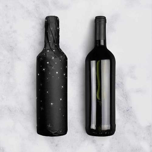 Image du produit Papier cadeau Nuit kraft couché noir/or/blanc 73gr 0.50x200m
