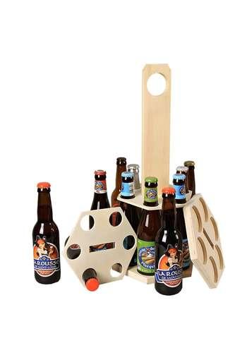 Image du produit Carrousel à bière Delio bois naturel 12 bières 33cl (type long neck)