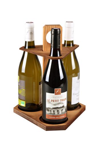 Image du produit Carrousel Ottavio bois teinté cannelle 3 bouteilles 75cl