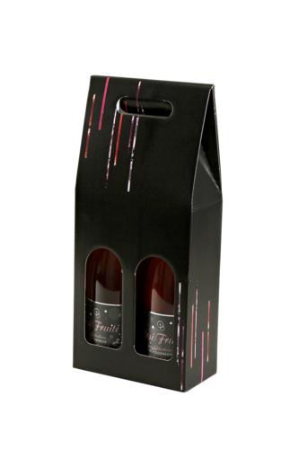 Image du produit Valisette Los Angeles carton noir 2 bouteilles