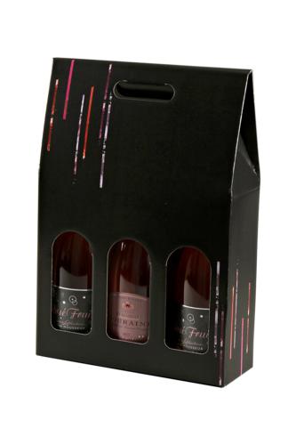 Image du produit Valisette Los Angeles carton noir 3 bouteilles