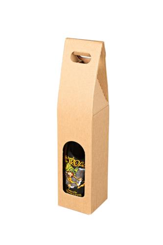 Image du produit Valisette Rome carton kraft cannelure 1 bouteille