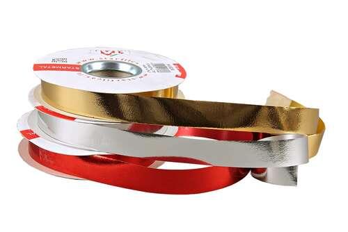 Image du produit Ruban Bolduc Brillant large argent (bobine 19mmx50m)