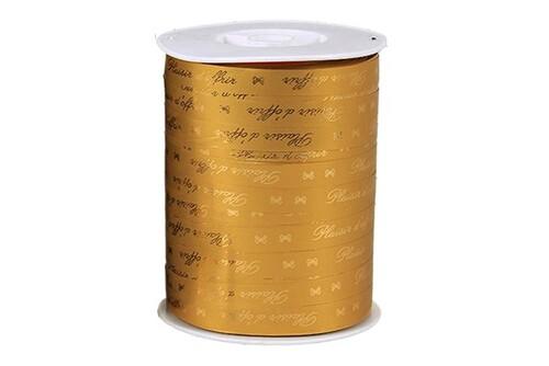 Image du produit Ruban Bolduc Satiné lisse brillant or - Plaisir d'offrir (bobine 10mmx250m)