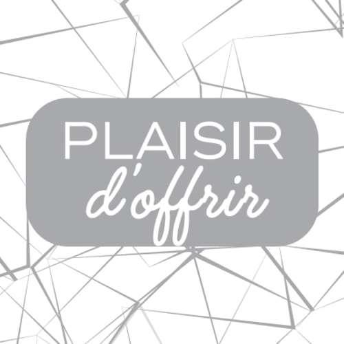Image du produit Etiquette adhésive Diamy carrée blanc/argent - Plaisir d'offrir (boîte de 500)