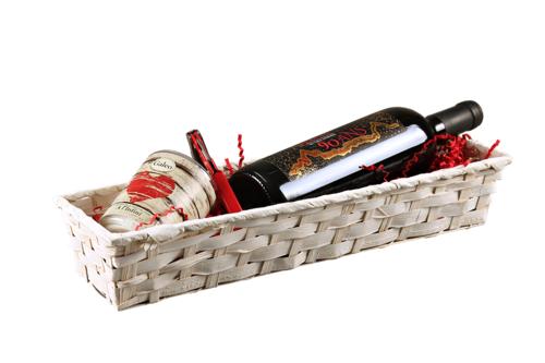 Image du produit Banneton Rihana bambou blanc rectangle 42x10x8cm
