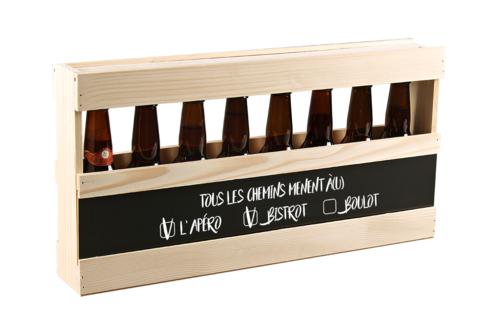 Image du produit Demi-mètre Emilio bois de sapin 8 bières 33cl (type long neck) - Tous les...