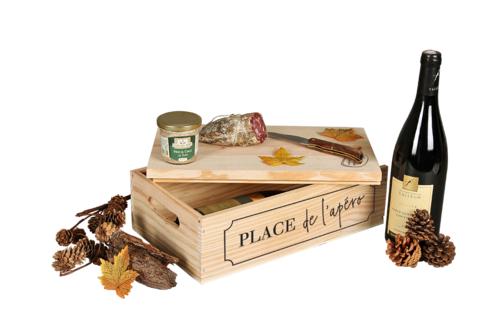 Image du produit Caisse Gaston bois de pin 2 bouteilles - Place de l'apéro