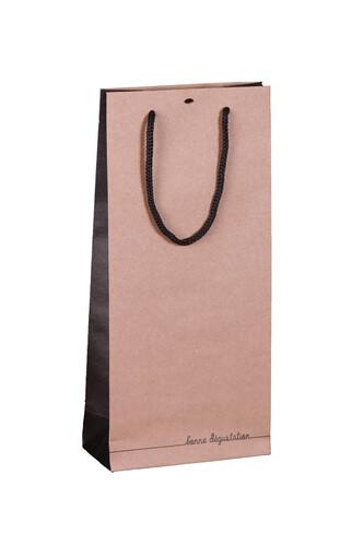Image du produit Sac Elusa papier kraft brun 2  bouteilles - FSC7