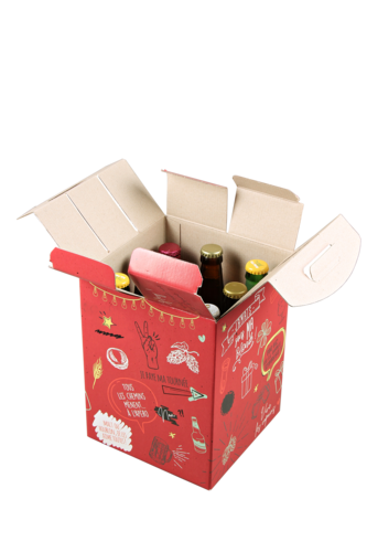 Image du produit Valisette Munich box carton rouge décoré 9 bières 33cl