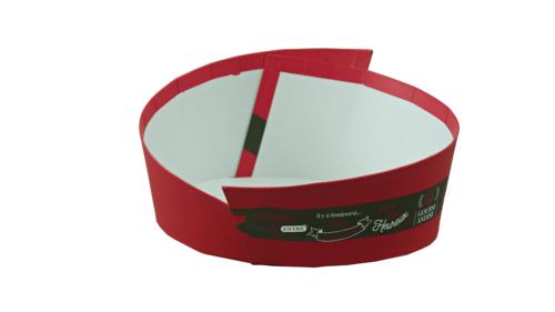 Image du produit Corbeille Caracas carton rigide cassis ovale asymétrique 28x22x7/12cm
