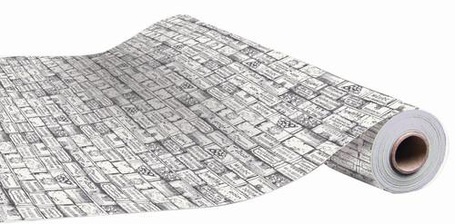 Image du produit Papier cadeau Bouquet kraft couché anthracite 70gr 0.70x100m