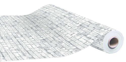 Image du produit Papier cadeau Bouquet kraft couché anthracite 70gr 0.50x200m