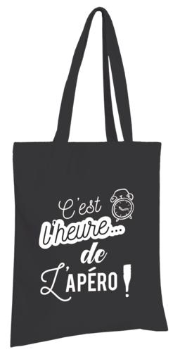 Image du produit Sac tote bag Chelsea toile coton noir - C'est l'heure de l'Apéro