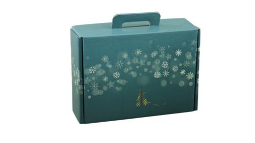 Image du produit Valisette gourmande Alaska carton bleu/or/argent/blanc 34.5x25.5x11.5cm