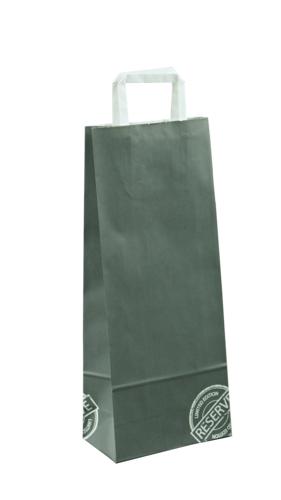 Image du produit Sac Réserve papier kraft anthracite/blanc 1 ou 2 bouteilles