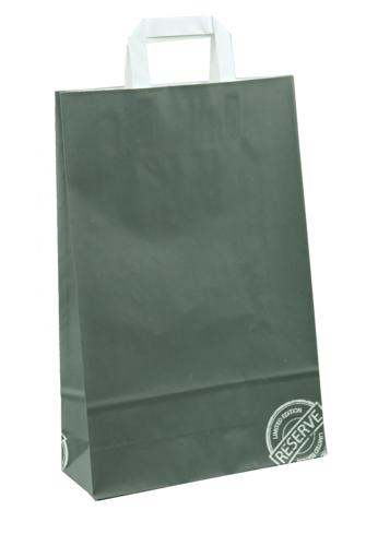 Image du produit Sac Réserve papier kraft anthracite/blanc 3 bouteilles