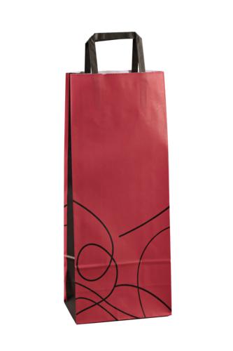 Image du produit Sac Nuance papier kraft prune/noir 1 ou 2 bouteilles