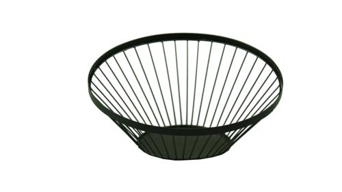 Image du produit Coupe Mila métal ronde asymétrique noire diam 32/16x8/14.5cm
