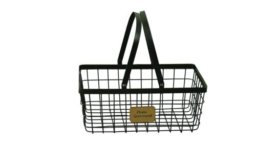Image du produit Panier Julia métal noir rectangle 30x20x12cm