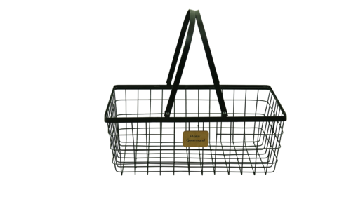 Image du produit Panier Julia métal noir rectangle 36x24x13cm