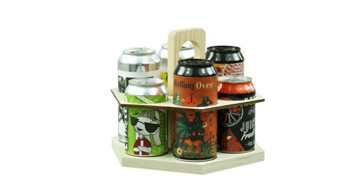 Image du produit Carrousel à bière Sandro bois naturel 6 bières 33/44cl (type canette)