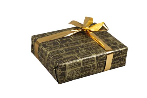 Image du produit Papier cadeau Bouquet kraft couché noir/or 70gr 0.70x100m