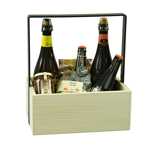 Image du produit Panier Hugo bois de sapin naturel 6 bouteilles