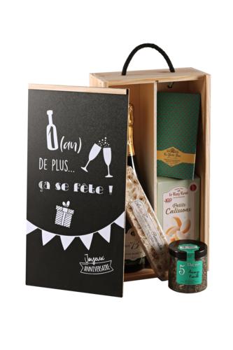 Image du produit Coffret Liam bois de pin 2 bouteilles - Un an de plus…(Anniversaire) - PEFC7